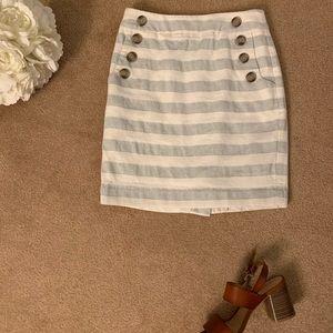 Striped LOFT sailor skirt